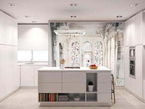 Diseño integral de cocina e interiorismo para vivienda unifamiliar en Juan Álvarez de Mendizábal, Madrid