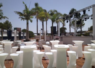 Dirección técnica de montaje de insfraestructuras para auditorio en Starlite, Marbella